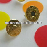 metal accessories for handbags fashion magnets button