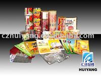 plastic food packaging with PP material printing film