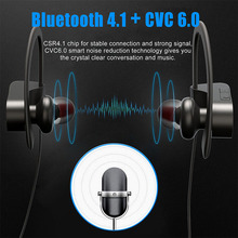 Wireless Bluetooth 4.1 Sports Headphones With Noise Cancelling, Hands-free Calling, Mic and High-fidelity Stereo Sound