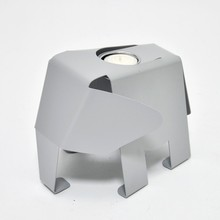Adorable Design Elephant Shaped Modern Silver Decorative Candle