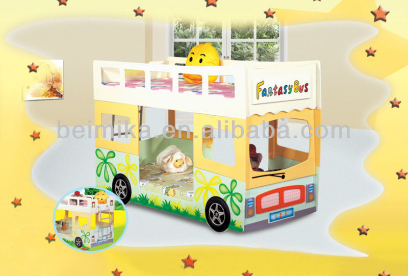 Kid Furniture Fantasy Bus Bunk Bed