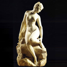 Life size beautiful white marble female stone elegant naked sex girl statue