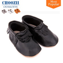 Wholesale Tassel Shoes Baby Moccasins Shoes Soft Genuine Leather
