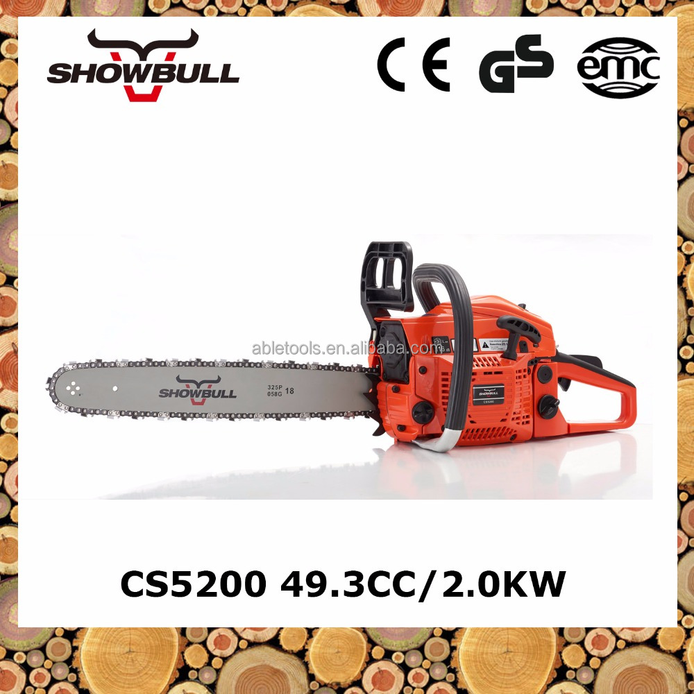 Firewood 49.3cc chainsaw machine5200 with recoil starter chainsaw machine price