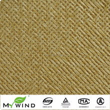 New Home Wallpaper 2017 Sound Absorbing Light Brown Paper Weave High Quality Wall Paper