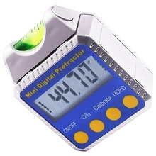 Digital Bevel Box / Inclinometer / Protractor with Spirit Level Built-in Magnetic Base & Always Upright LCD