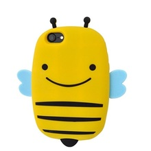 Custom shockproof honey bee silicone phone case for iphone 6/7