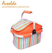 Wholesale basket strap and flower cooler bag with mataline handle