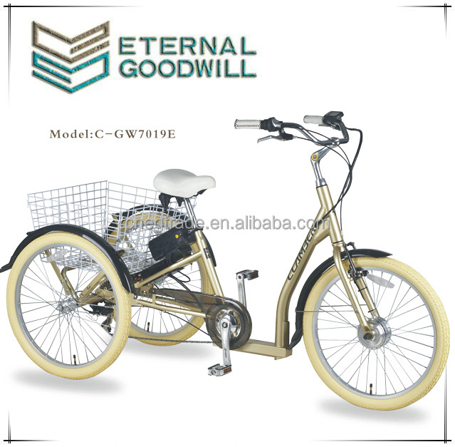 Electric cargo bike 3 wheels cargo adult tricycle cargo bike
