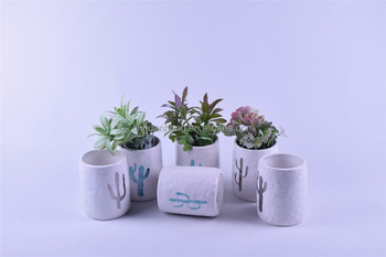 Fashion ceramic cactus flower pot