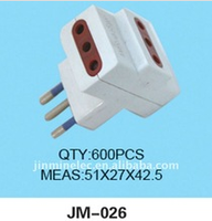 2015 wholesale 3pins triangle plug octopus plugs forklift plug JM-026 electric adapter converter wireless durable