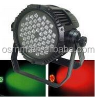 IP65 led PAR 64 54*3W RGBW waterproof outdoors performance