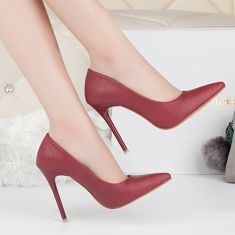 bulk wholesale women slip on pumps work office business shoes pointy toe party custom high <strong>heels</strong>