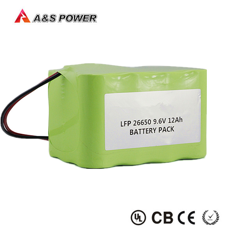 Rechargeable Lithium Iron LiFePO4 Battery pack 9.6V 12Ah LFP