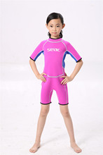 Excellent quality and Best price shorty back zip surfing wetsuits for kids