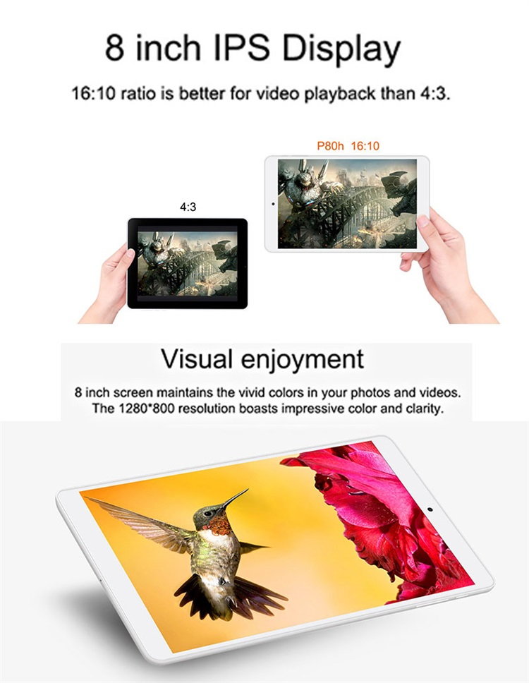 Portable Fashionable 8 inch Teclast Tablet PC with Dual Band Wifi