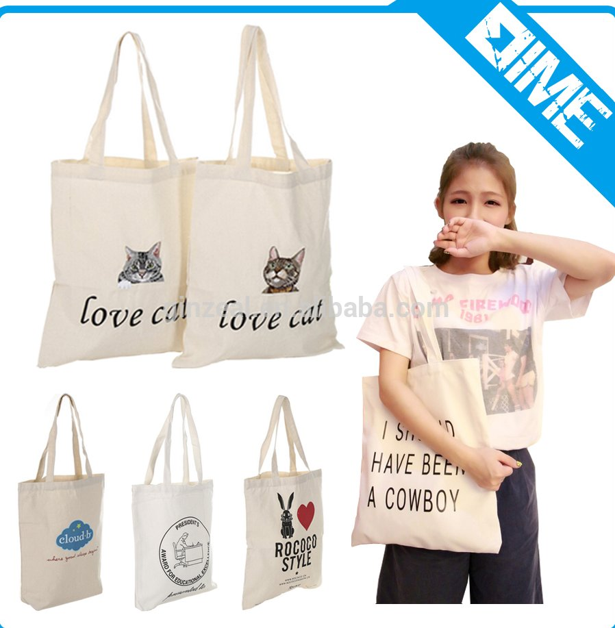 Wholesale Factory Price Cotton Bag Custom Logo Printed Canvas Tote Bag