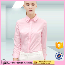 long sleeve plain dyed modern stylish business wear for women with double collar