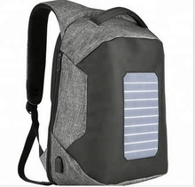 Chargeable Solar Panel Energy Backpack with with Anti-theft Zipper
