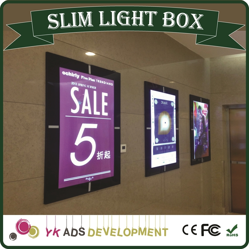 slimline light box customized DC 12V for Adverting, Poster, Restaurant, Etc