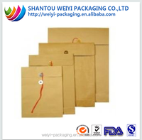 Recycle document natural brown kraft paper envelope a2 a3 a4 a5