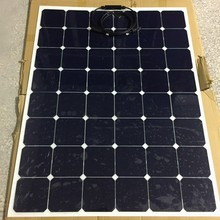 Thin film sunpower mono cells 150W 27V semi flexible solar panel for RV Boat Cabin