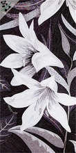 MB SMM05-B white lily handmade mosaic glass wall murals artistic mosaic flower pattern mosaic tile