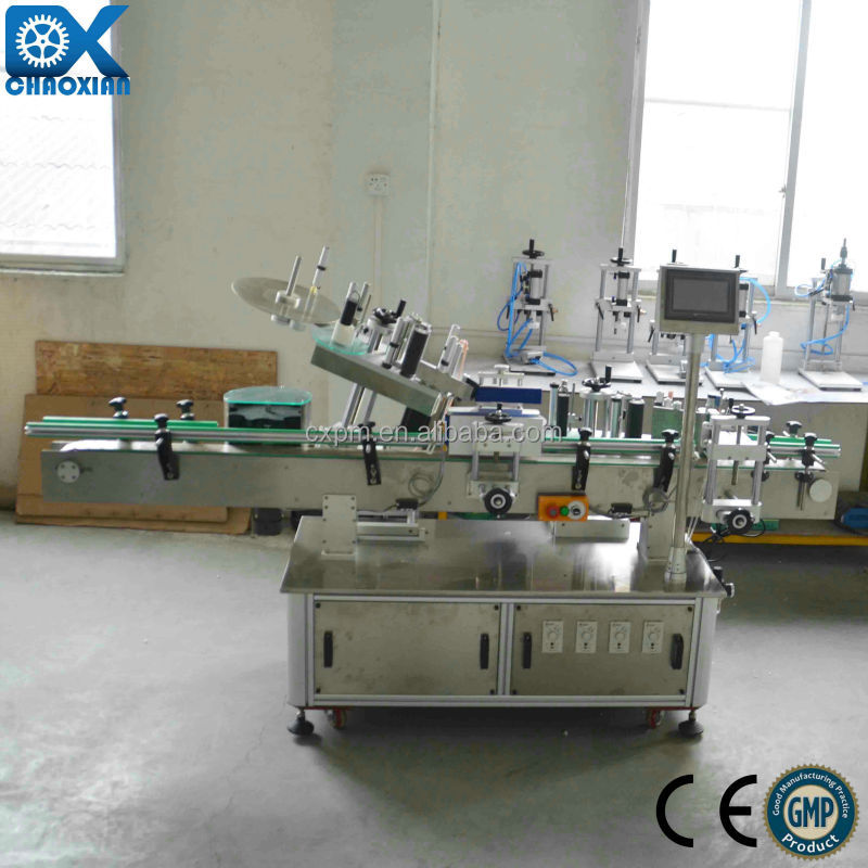 Automatic sticker labeling machine for top foodstuff bottle