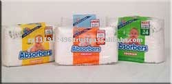 ABSORBERS ultra absorbent baby diaper