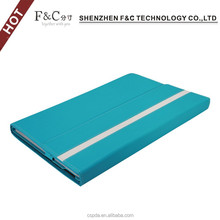 Shenzhen manufacturer flip open smart leather case for microsoft surface 3 10.8 inch,different colors are available