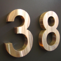 gold stainless steel metal letter number
