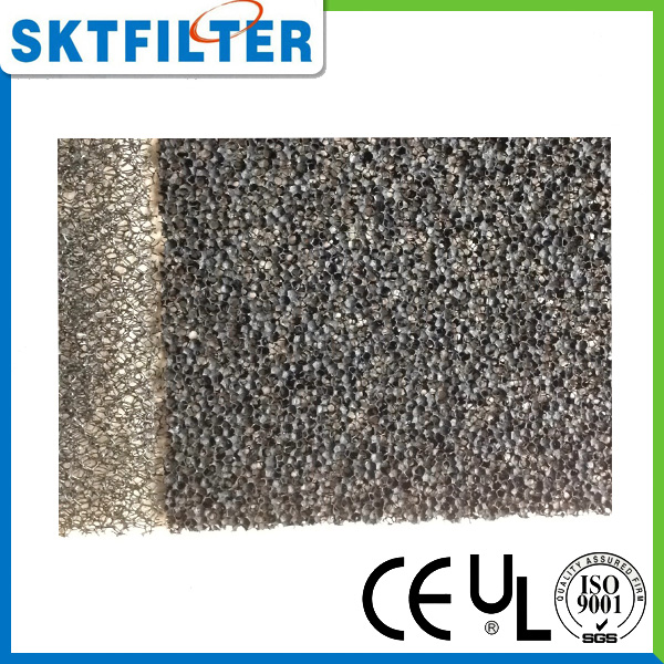 Fire retardant open cell foam filter