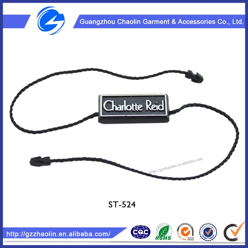Best selling high quality good style plastic hang tag clothing seal tags