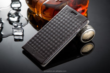 High quailty wallet leather case for apple iphone 6,grid book style leather case for iphone6