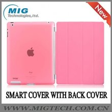 Smart cover with back hard cover for ipad2 3, for ipad case