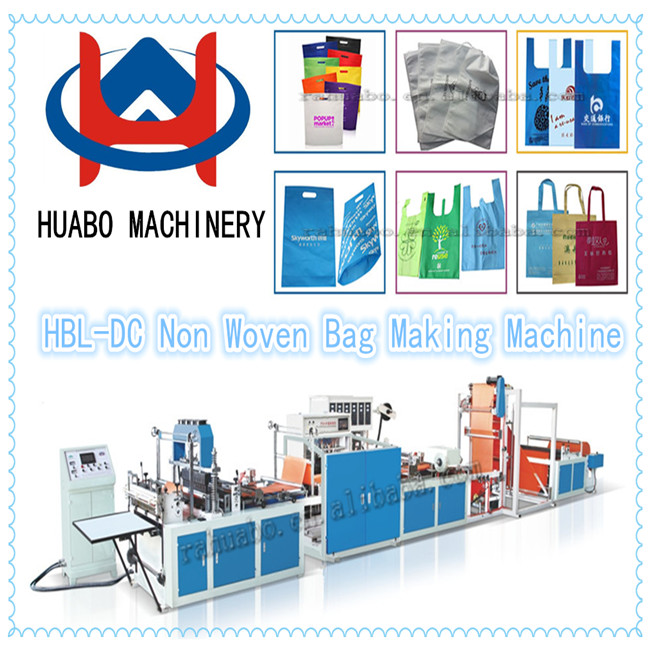 high speed t-shirt nonwoven bag making machine/plastic bag maker /trash bag machine price