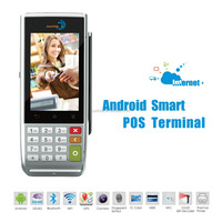 Portable Barcode Scanner Android POS Machine, Receipt Printer POS Machine, Multi-Language Font POS Machine