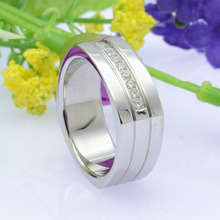 wholesale christmas gift mens stainless steel square ring