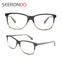 2018 Latest Branded Double Color Acetate Optical Eyeglasses Frame For Man