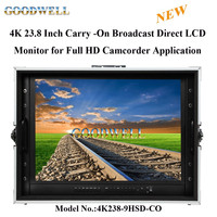 "New 23.8"" 4K Ultra-HD Resolution Carry-on Broadcast Director LCD Monitor for CCTV Monitoring & Making Movies 4K2"