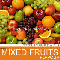Mixed fruit flavor in beverage