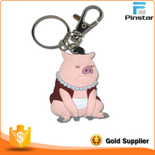 Pinstar supplier cheap promotional gift custom made pvc keychain