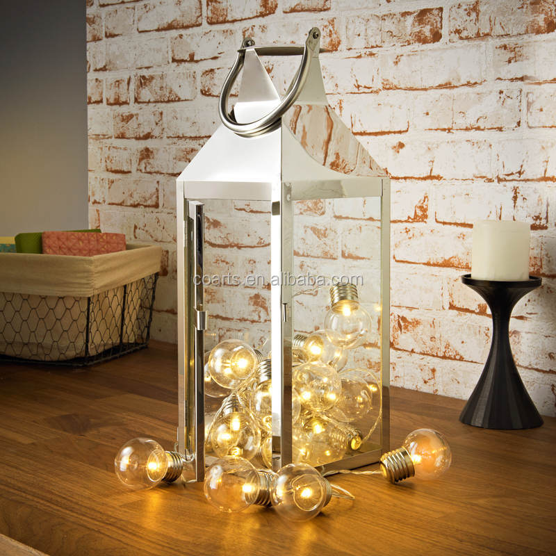 lantern with bulb string light home decoration light