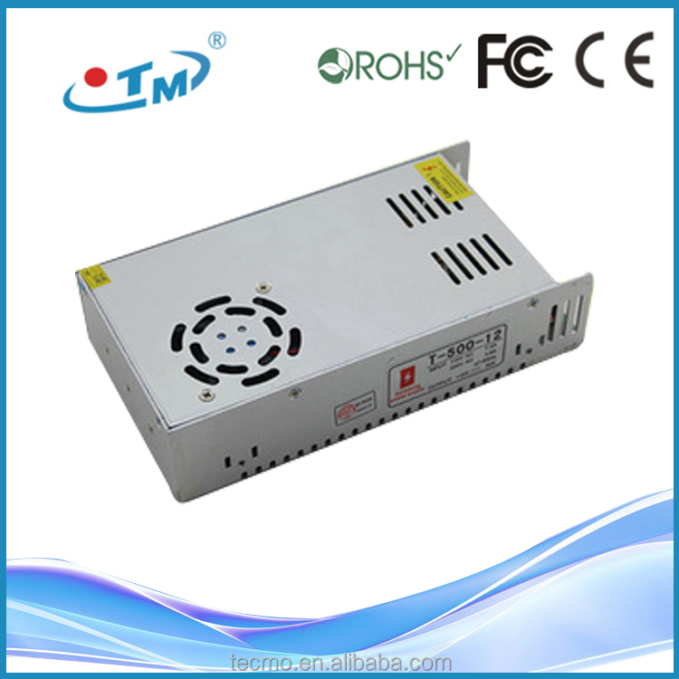 Newest led driver 500W 12VDC tuv ce fcc cb led power supply with 2 years warranty