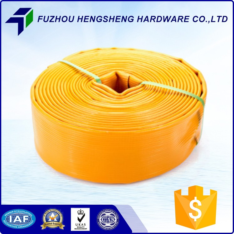 Hot sale competitive lay flat hose fracking PVC layflat hose