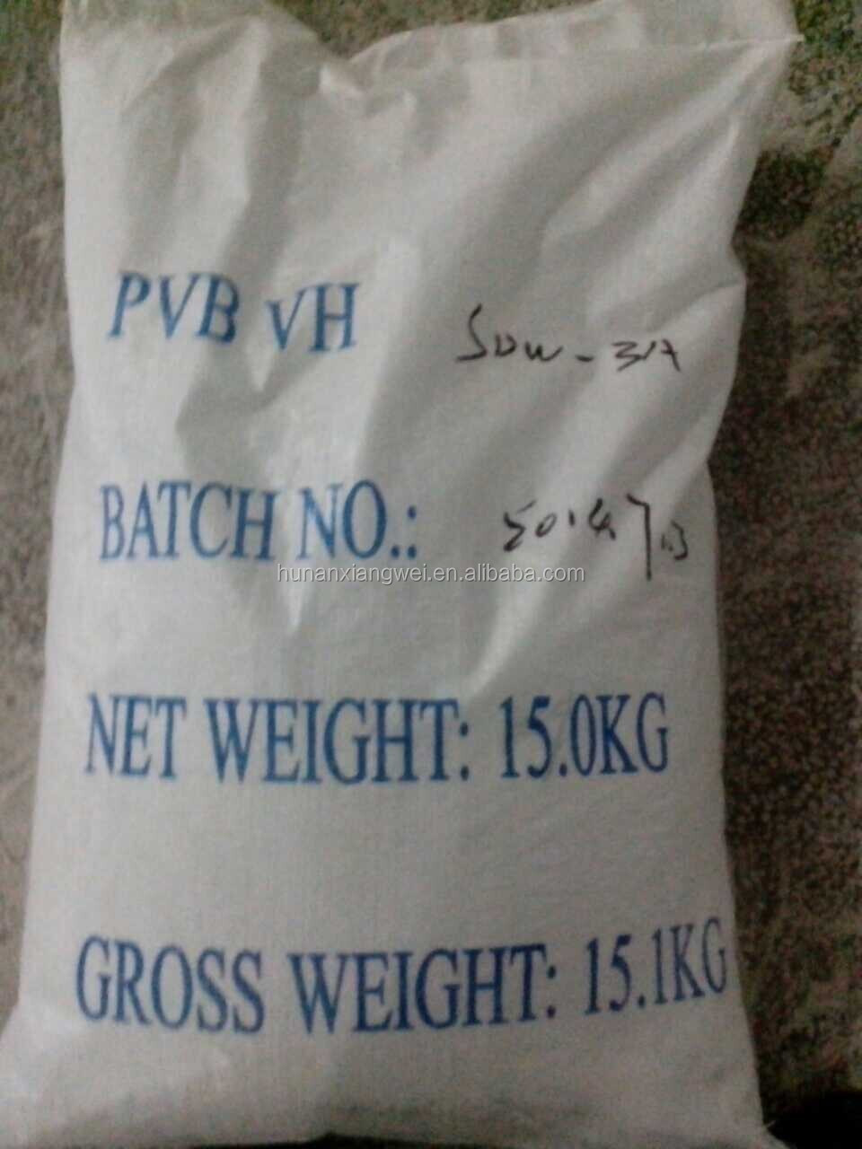 factory price polyvinyl butyral PVB resin