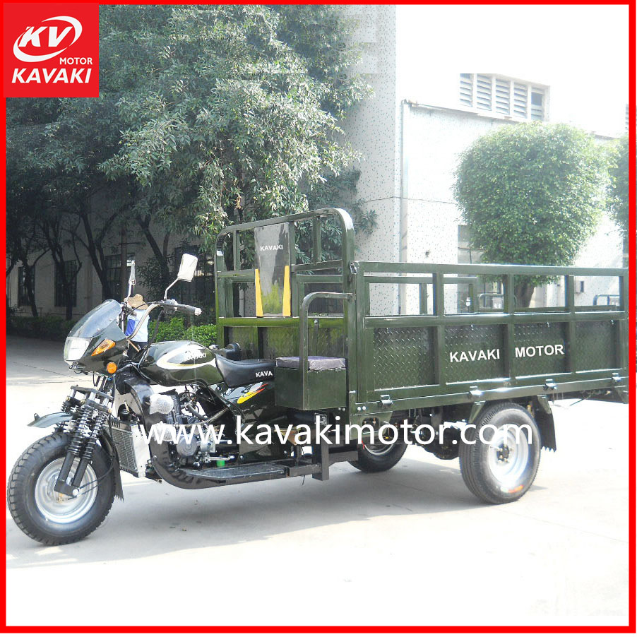 Auto Petrol Engine 200cc Zongshen Three Wheel Tricycle Cargo Tricycle Motorcycle Five Holes