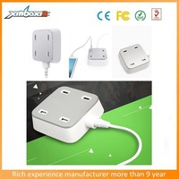 new arrivel ! mobile phone 4 multi port USB wall charger 5V 5A