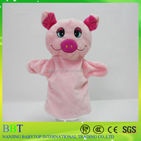 promotional gift plush peppa pink pig toy finger puppet for toy