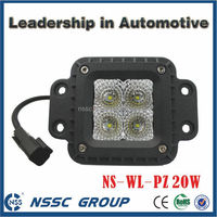 High power IP68 3x3 inch 20w flush mount led pod light cube light for Jeep wrangler,truck and tractor,LIFETIME WARRANTY